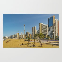 Beach and Buildings of Fortaleza Brazil Rug
