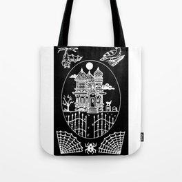 Ominous Victorian House Invert Tote Bag
