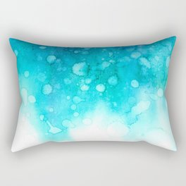 Deep sea watercolor abstract Rectangular Pillow