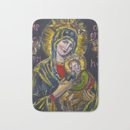 Our Lady of Perpetual Help Bath Mat