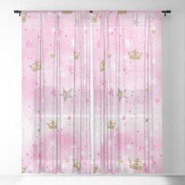 Pink Princess Sheer Curtain