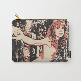 In the woods - Slave girl BDSM Bondage, erotic nude, naked beautiful woman Carry-All Pouch