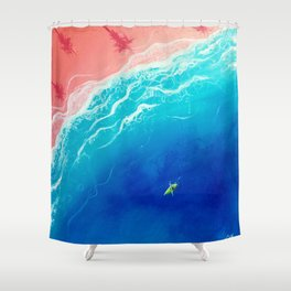 Kay-atching Waves Shower Curtain