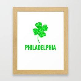Philadelphia Irish, St Patricks Day, Four Leaf Clover Framed Art Print