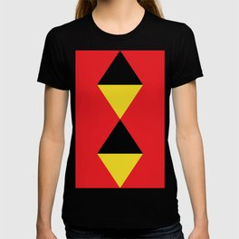 Other Rhombuses, one on another, floating in a red sea. T-shirt