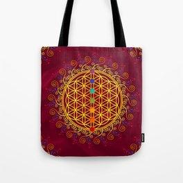 FLOWER OF LIFE, CHAKRAS, SPIRITUALITY, YOGA, ZEN, Tote Bag