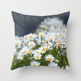 Daisy Single Flowers Throw Pillow