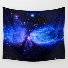 Space Galaxy : a star is born Midnight Blue Violet Wall Tapestry