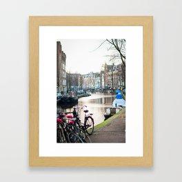 Amsterdam Canal by Morning Framed Art Print
