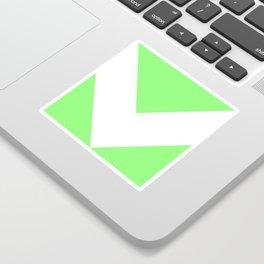 Chevron (White & Light Green) Sticker