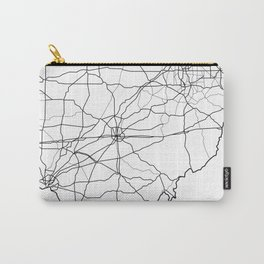 Ohio White Map Carry-All Pouch