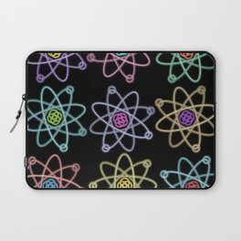 Gold and Silver Atomic Structure Pattern Laptop Sleeve