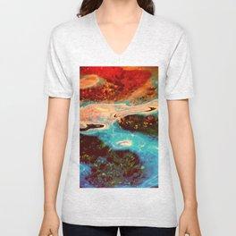 Watercolors Unisex V-Neck