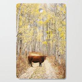 Cow in aspens Cutting Board