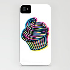 CMYK Cupcake Slim Case iPhone (4, 4s)