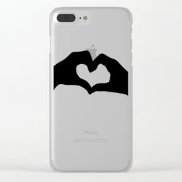 Hearts out of Hands - Silhouette Clear iPhone Case
