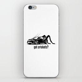 Got Crickets? ~Black~ iPhone Skin