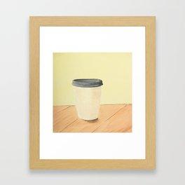 Coffee (Yellow) Framed Art Print