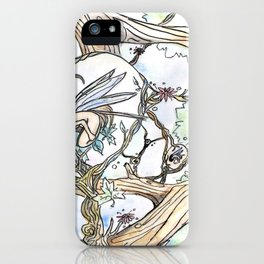 Birth of a Fairy iPhone Case