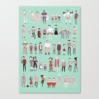 stripes Canvas Prints featuring Stripes by Noelle Stevenson