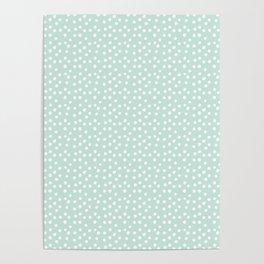 Mint Passion Thalertupfen White Pōlka Round Dots Pattern Pastels Poster