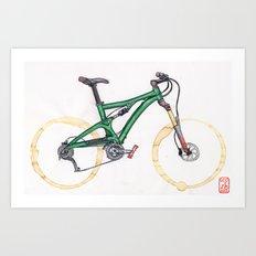 Coffee Wheels #10 Art Print