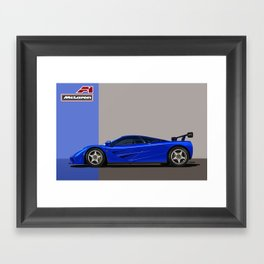McLaren F1 Chassis 011 - Brilliant Blue Metallic Framed Art Print