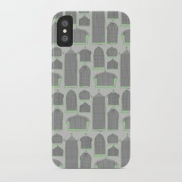 Birdcages (Gray) iPhone Case