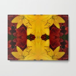 """A Gathering of Lilies"" Remix - 2 (4-1) [D4466~24] Metal Print"