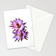Purple cactus blossom Stationery Cards