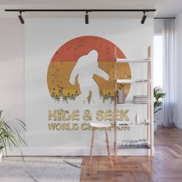 Vintage Hide And Seek World Champion Bigfoot Sasquatch Wall Mural