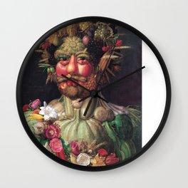 Emperor Rudolph II by Arcimboldo Wall Clock