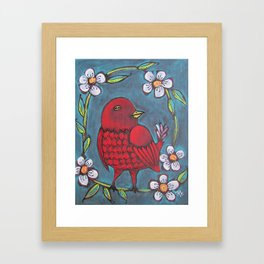 Redbird Framed Art Print