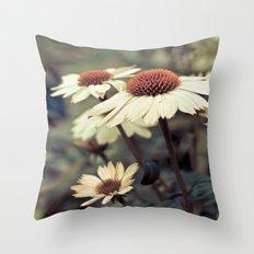 Soft white cone flower Throw Pillow