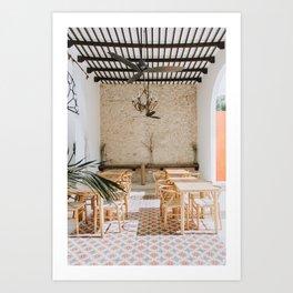 Wanderlust Interiors with Pink Tiles Art Print