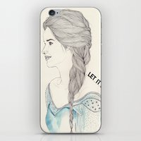 frozen elsa iPhone & iPod Skins featuring Elsa (Frozen) by Kaethe Butcher