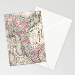Vintage Map of Ontario (1857) Stationery Cards