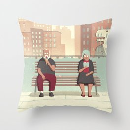 Day Trippers #5 - Rest Throw Pillow