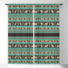 Boho dogs | Bishon frisé sunset Blackout Curtain