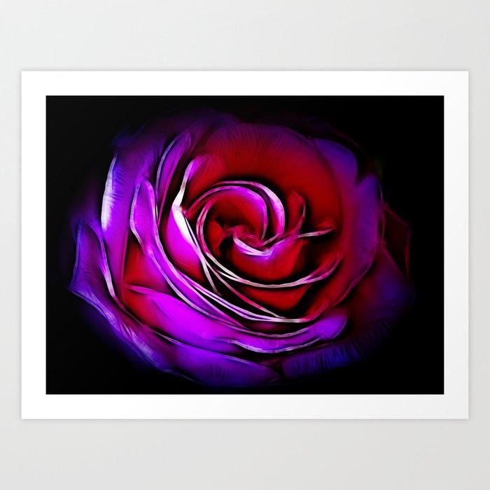 Rose Fractalius Art Print