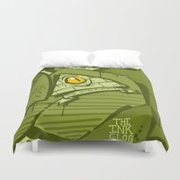 hustle Duvet Covers featuring HUSTLE by clogtwo