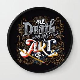 Til Death We Do Art Wall Clock