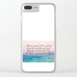 Psalm 121 1 Clear iPhone Case