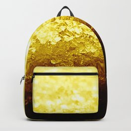 Golden Yellow Ombre Crystals Backpack