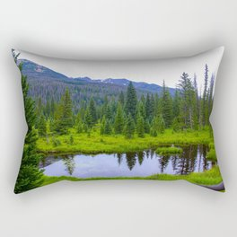Colorado Forest Pond by Reay of Light Rectangular Pillow
