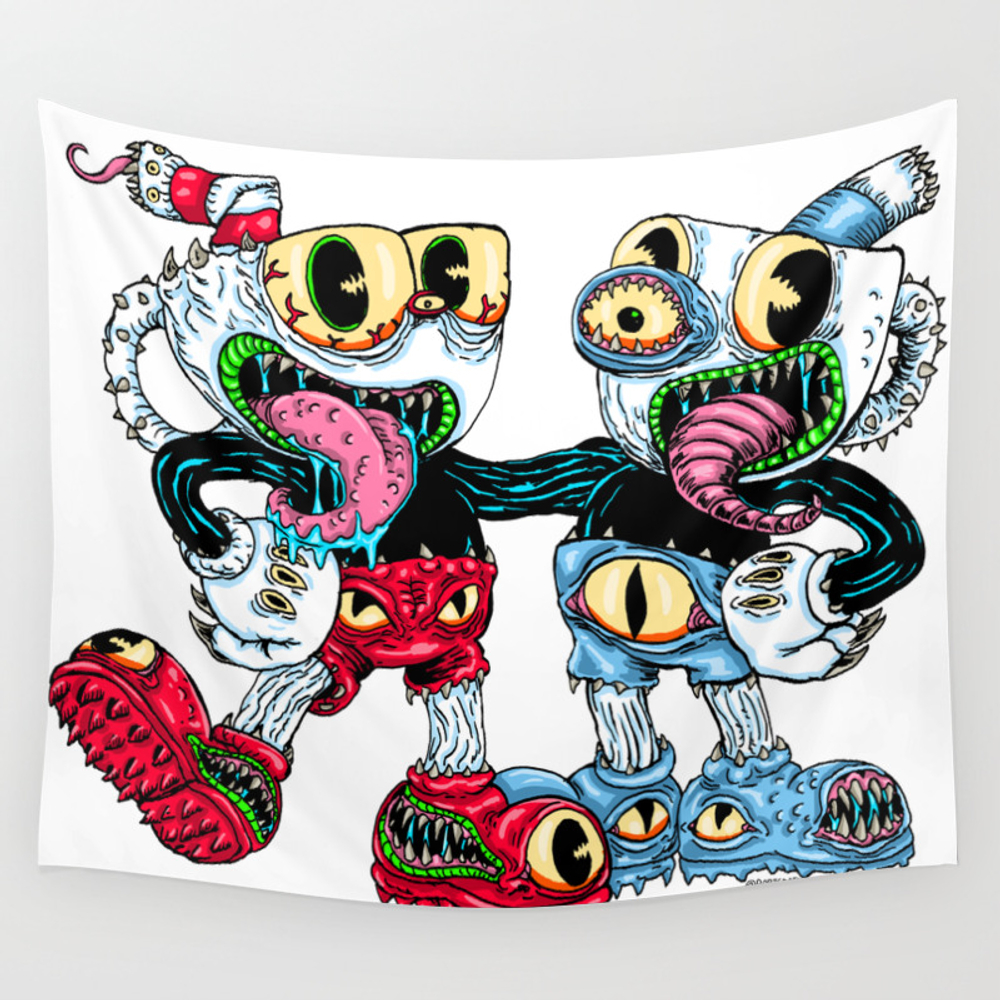 Monster Cups Wall Tapestry by Robisrael TPS8436053