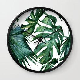 Simply Island Palm Leaves Wall Clock