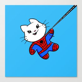 Spiderkitty! Canvas Print