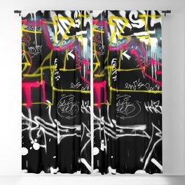 New York Traces - Urban Graffiti Blackout Curtain