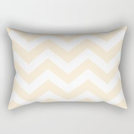 Papaya whip - pink color - Zigzag Chevron Pattern Rectangular Pillow
